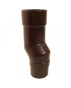 Freeflow 68mm Round Down Pipe Mini Offset - Brown
