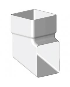Freeflow 65mm Square Down Pipe Shoe - White