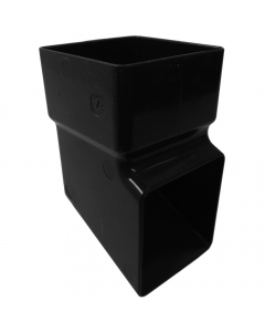 Freeflow 65mm Square Down Pipe Shoe - Black