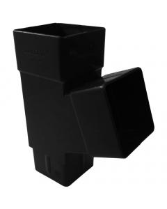 Freeflow 65mm Square Down Pipe 112 Degree Branch - Black