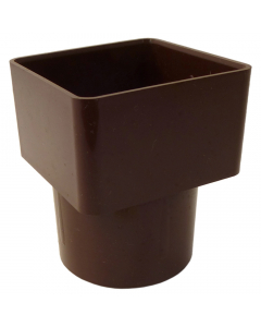 Freeflow 65mm Square To 68mm Round Down Pipe Adaptor - Brown