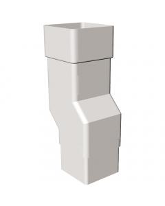 Freeflow 65mm Square Down Pipe Mini Offset - White