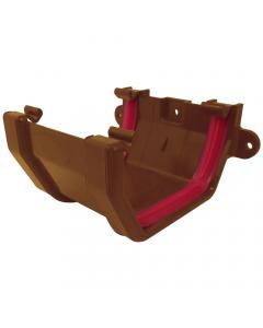 Freeflow 114mm Square Gutter Union Bracket - Caramel
