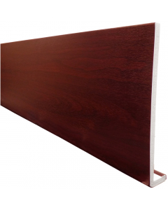Freefoam 175mm x 10mm Plain Cap Over Fascia - 5 Metre - Woodgrain Rosewood