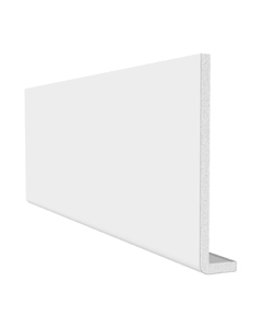 Freefoam 200mm x 10mm Plain Cap Over Fascia - 2.5 Metre - White