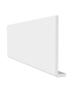 Freefoam 225mm x 10mm Plain Cap Over Fascia - 2.5 Metre - White