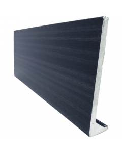 Freefoam 225mm x 10mm Plain Cap Over Fascia - 5 Metre - Woodgrain Anthracite Grey
