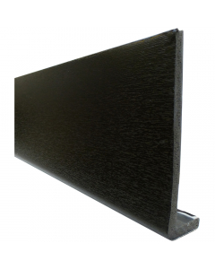 Freefoam 225mm x 10mm Plain Cap Over Fascia - 5 Metre - Woodgrain Black Ash