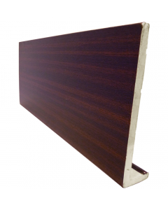Freefoam 225mm x 10mm Plain Cap Over Fascia - 5 Metre - Woodgrain Mahogany