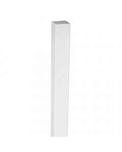 Mr Plastic PVC Plastic Fence Post - 102mm x 102mm x 4877mm - White