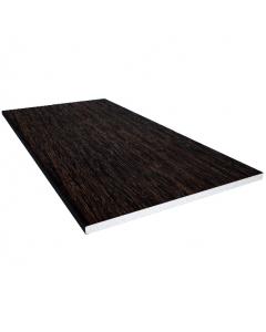 Freefoam 150mm x 10mm Solid Soffit Board - 5 Metre - Woodgrain Black Ash