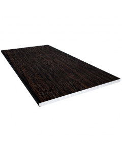 Freefoam 200mm x 10mm Solid Soffit Board - 5 Metre - Woodgrain Black Ash