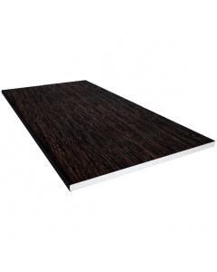 Freefoam 225mm x 10mm Solid Soffit Board - 5 Metre - Woodgrain Black Ash