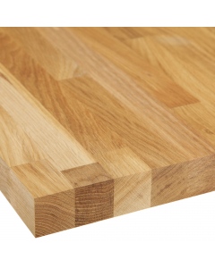 Basix Solid Wood European White Oak Worktop - 3000mm x 640mm x 38mm