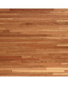 Tuscan Solid Wood Unfinished Iroko Breakfast Bar Worktop - 3000mm x 900mm x 26mm