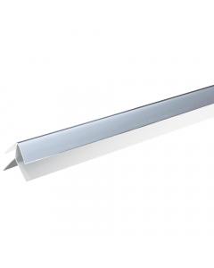 Basix 5mm External Corner Trim - 2.7 Metre - Silver