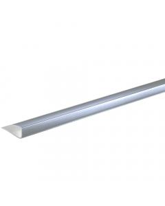 Basix 5mm End Cap U Trim - 2.7 Metre - Silver