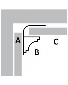 Basix 5mm Scotia Trim - 2.7 Metre - White