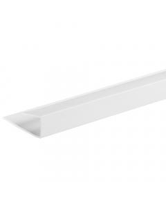Basix 5mm End Cap U Trim - 2.7 Metre - White