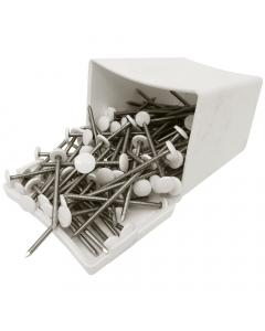 Plastops Plastic Headed Nails - 50mm - White (100 Pack)