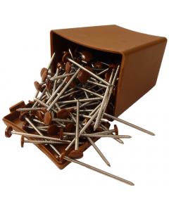 Plastops Plastic Headed Nails - 65mm - Light Brown (100 Pack)