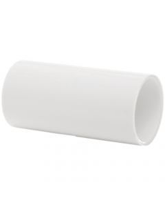 Polypipe 21.5mm Overflow Solvent Weld Straight Connector - White