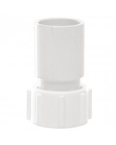 Polypipe 21.5mm Overflow Solvent Weld Straight Adaptor - White
