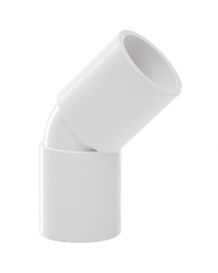 Polypipe 21.5mm Overflow Solvent Weld 45 Degree Bend - White