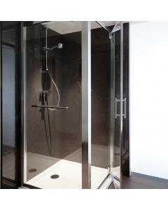 Bushboard Nuance Gloss Cinder Quartz Bathroom Wall Panel - Postformed - 1200mm