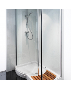Bushboard Nuance Gloss White Quartz Bathroom Wall Panel - Postformed - 1200mm