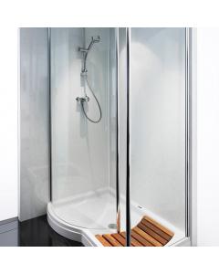 Bushboard Nuance Gloss White Quartz Bathroom Wall Panel - Feature Panel - 580mm