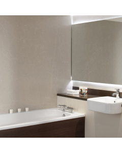 Bushboard Nuance Fini A Marble Sable Bathroom Wall Panel - Feature Panel - 580mm
