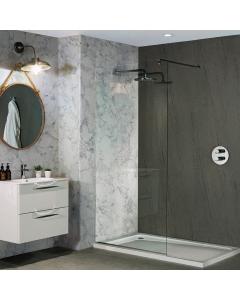 Bushboard Nuance Roche Natural Greystone Bathroom Wall Panel - Tongue & Groove - 600mm