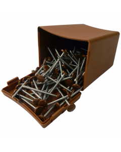 Plastops Plastic Headed Pins - 30mm - Light Brown (200 Pack)