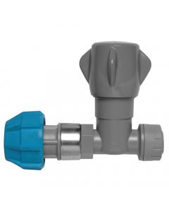 PolyPlumb MDPE Stopcock - 25mm x 15mm