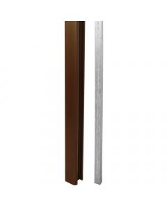 Liniar Plastic Fence Post - 8 ft - Brown