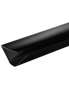 Proplas PVC 8mm Ceiling Mould Trim - 2.7 Metre - Black
