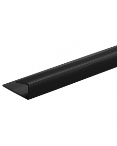 Proplas PVC 8mm End Cap U Trim - 2.7 Metre - Black