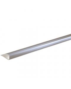 Proplas PVC 8mm End Cap U Trim - 2.7 Metre - Silver
