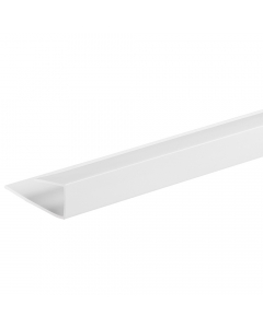 Proplas PVC 8mm End Cap U Trim - 2.7 Metre - White