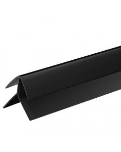 Proplas PVC 8mm External Corner Trim - 2.7 Metre - Black