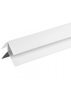 Proplas PVC 8mm External Corner Trim - 2.7 Metre - White