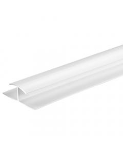 Proplas PVC 8mm H Joiner Trim - 2.7 Metre - White