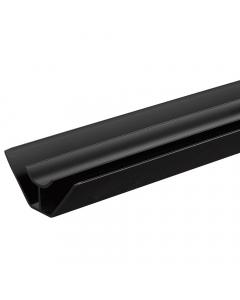 Proplas PVC 8mm Internal Corner Trim - 2.7 Metre - Black