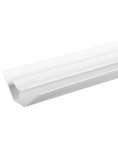 Proplas PVC 8mm Internal Corner Trim - 2.7 Metre - White