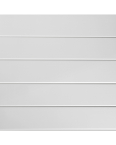Proplas PVC White Embedded High Gloss Wall Panel - 2700mm x 250mm x 8mm (4 Pack)