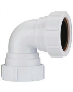 Polypipe 40mm Compression Waste 90 Degree Knuckle Bend
