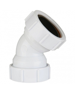 Polypipe 40mm Compression Waste 135 Degree Obtuse Bend