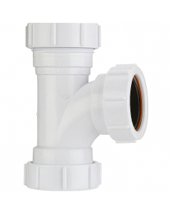 Polypipe 40mm Compression Waste 91.25 Degree Equal Tee