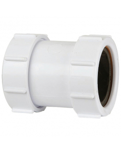 Polypipe 40mm Straight Coupler Compression Waste